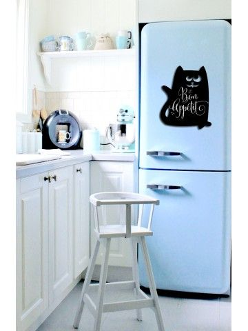 Cat - Memo Board for Kitchen - Magnetic Chalkboard for Fridge, Kitchen Blackboard Notepad, Weekly Planner BeCrea - 1