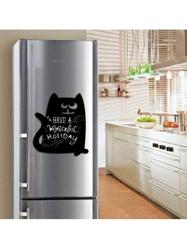 Cat - Memo Board for Kitchen - Magnetic Chalkboard for Fridge, Kitchen Blackboard Notepad, Weekly Planner BeCrea - 2