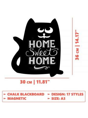 Cat - Memo Board for Kitchen - Magnetic Chalkboard for Fridge, Kitchen Blackboard Notepad, Weekly Planner BeCrea - 5