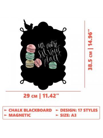 Frame - Memo Board for Kitchen - Magnetic Chalkboard for Fridge, Kitchen Blackboard Notepad, Weekly Planner BeCrea - 6