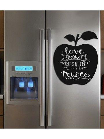 Apple - Memo Board for Kitchen - Magnetic Chalkboard for Fridge, Kitchen Blackboard Notepad, Weekly Planner BeCrea - 1