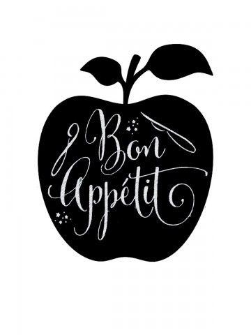 Apple - Memo Board for Kitchen - Magnetic Chalkboard for Fridge, Kitchen Blackboard Notepad, Weekly Planner BeCrea - 2