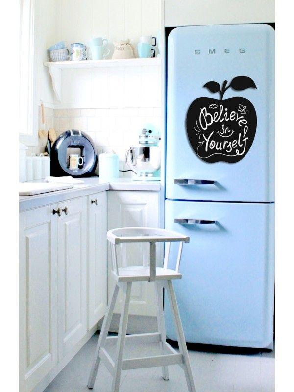 Apple - Memo Board for Kitchen - Magnetic Chalkboard for Fridge, Kitchen Blackboard Notepad, Weekly Planner BeCrea - 4