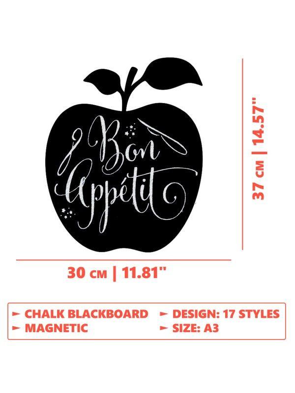 Apple - Memo Board for Kitchen - Magnetic Chalkboard for Fridge, Kitchen Blackboard Notepad, Weekly Planner BeCrea - 6