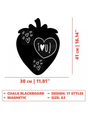 Strawberry - Memo Board for Kitchen - Magnetic Chalkboard for Fridge, Kitchen Blackboard Notepad, Weekly Planner BeCrea - 4