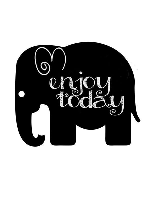 Elephant - Memo Board for Kitchen - Magnetic Chalkboard for Fridge, Kitchen Blackboard Notepad, Weekly Planner BeCrea - 1