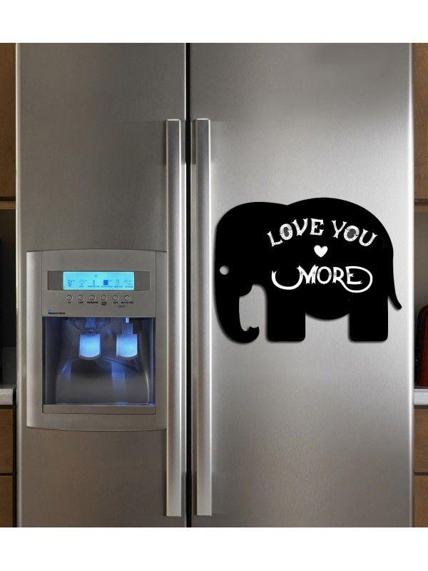 Elephant - Memo Board for Kitchen - Magnetic Chalkboard for Fridge, Kitchen Blackboard Notepad, Weekly Planner BeCrea - 2