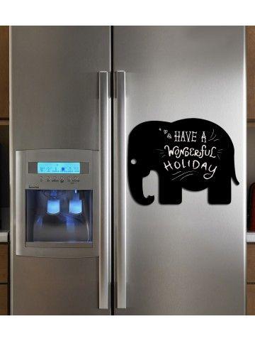 Elephant - Memo Board for Kitchen - Magnetic Chalkboard for Fridge, Kitchen Blackboard Notepad, Weekly Planner BeCrea - 3