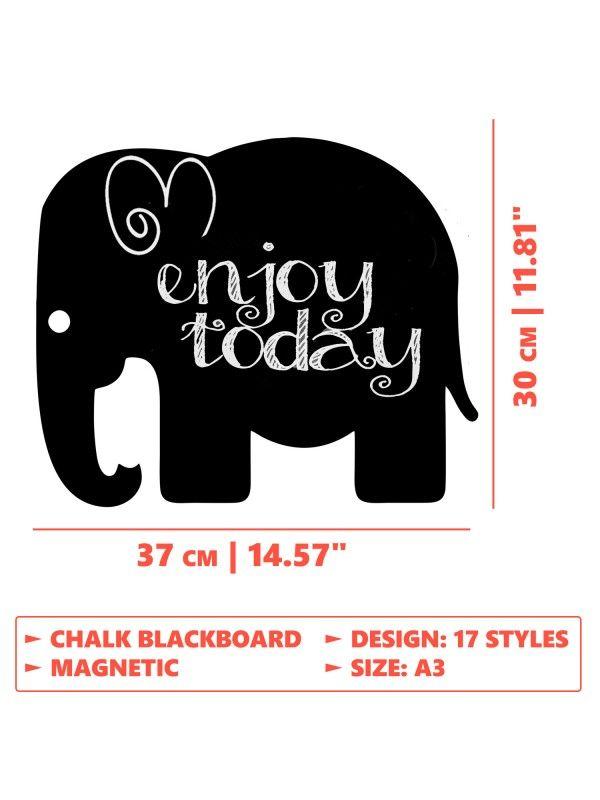 Elephant - Memo Board for Kitchen - Magnetic Chalkboard for Fridge, Kitchen Blackboard Notepad, Weekly Planner BeCrea - 4