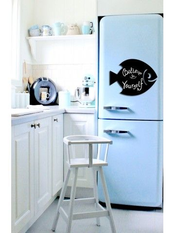 Fish - Memo Board for Kitchen - Magnetic Chalkboard for Fridge, Kitchen Blackboard Notepad, Weekly Planner BeCrea - 1
