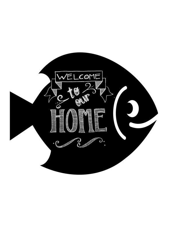 Fish - Memo Board for Kitchen - Magnetic Chalkboard for Fridge, Kitchen Blackboard Notepad, Weekly Planner BeCrea - 3