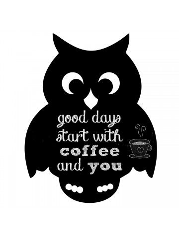 Owl - Memo Board for Kitchen - Magnetic Chalkboard for Fridge, Kitchen Blackboard Notepad, Weekly Planner BeCrea - 2