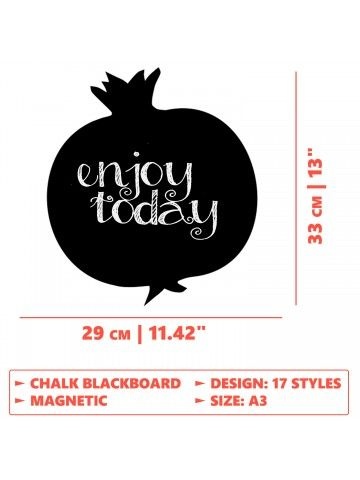 Garnet - Memo Board for Kitchen - Magnetic Chalkboard for Fridge, Kitchen Blackboard Notepad, Weekly Planner BeCrea - 5