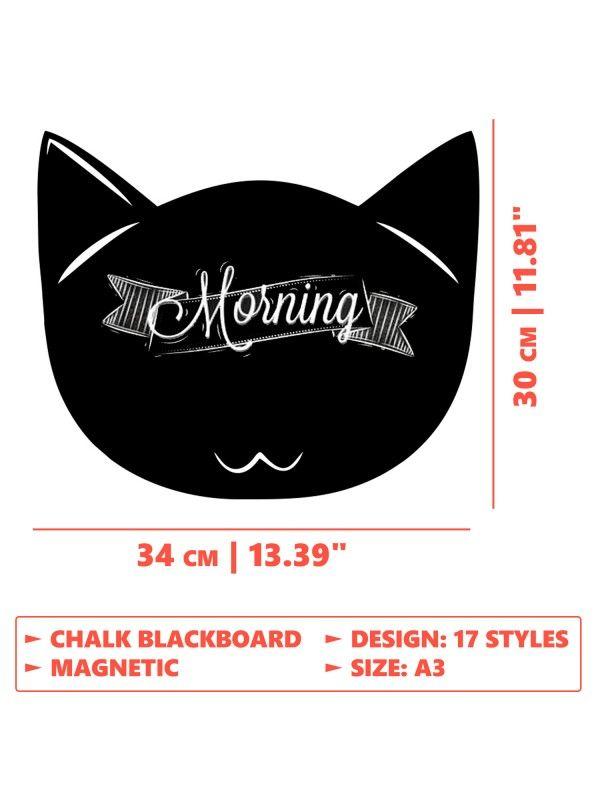 Cat 2 - Memo Board for Kitchen - Magnetic Chalkboard for Fridge, Kitchen Blackboard Notepad, Weekly Planner BeCrea - 4
