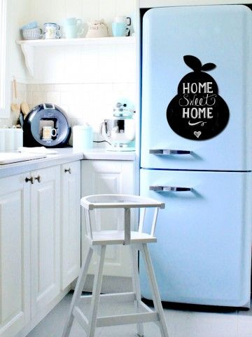 Pear - Memo Board for Kitchen - Magnetic Chalkboard for Fridge, Kitchen Blackboard Notepad, Weekly Planner BeCrea - 3