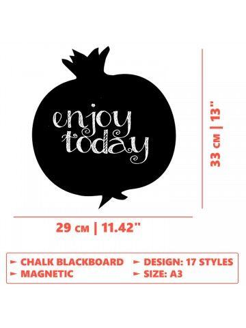 Clover - Memo Board for Kitchen - Magnetic Chalkboard for Fridge, Kitchen Blackboard Notepad, Weekly Planner BeCrea - 5