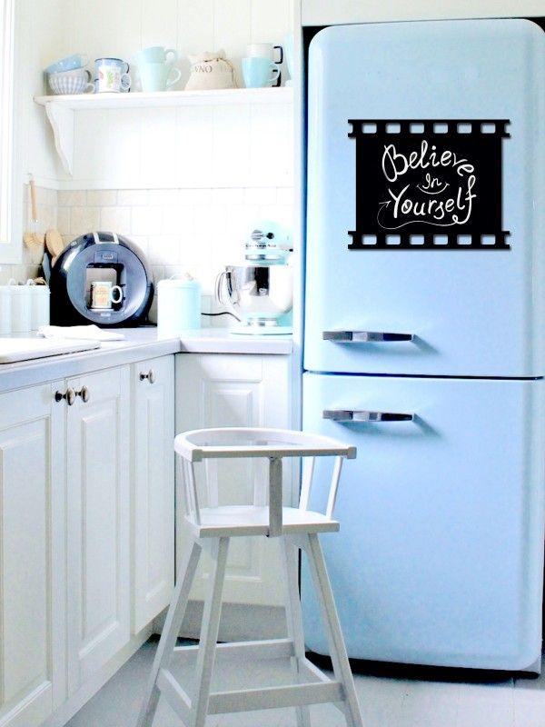 Film - Memo Board for Kitchen - Magnetic Chalkboard for Fridge, Kitchen Blackboard Notepad, Weekly Planner BeCrea - 1