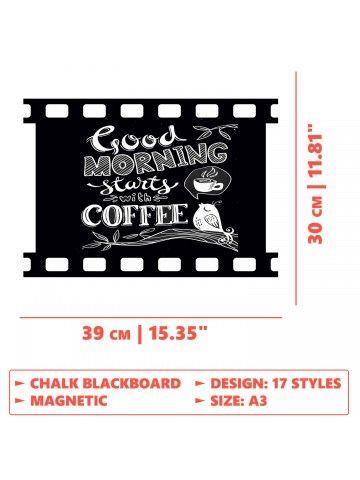 Film - Memo Board for Kitchen - Magnetic Chalkboard for Fridge, Kitchen Blackboard Notepad, Weekly Planner BeCrea - 4
