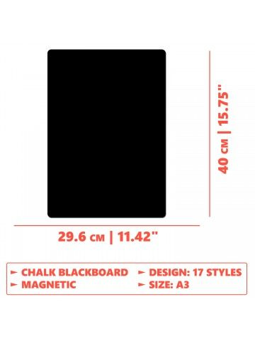 Menu - Memo Board for Kitchen - Magnetic Chalkboard for Fridge, Kitchen Blackboard Notepad, Weekly Planner BeCrea - 6