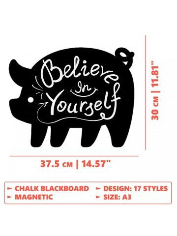 Pig - Memo Board for Kitchen - Magnetic Chalkboard for Fridge, Kitchen Blackboard Notepad, Weekly Planner BeCrea - 5
