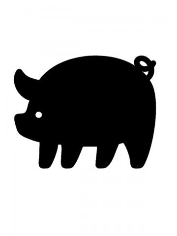 Pig - Memo Board for Kitchen - Magnetic Chalkboard for Fridge, Kitchen Blackboard Notepad, Weekly Planner BeCrea - 4