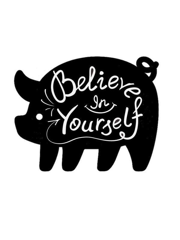 Pig - Memo Board for Kitchen - Magnetic Chalkboard for Fridge, Kitchen Blackboard Notepad, Weekly Planner BeCrea - 3