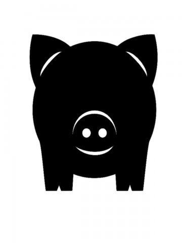 Krīta magneta delis Pig 2 BeCrea - 3