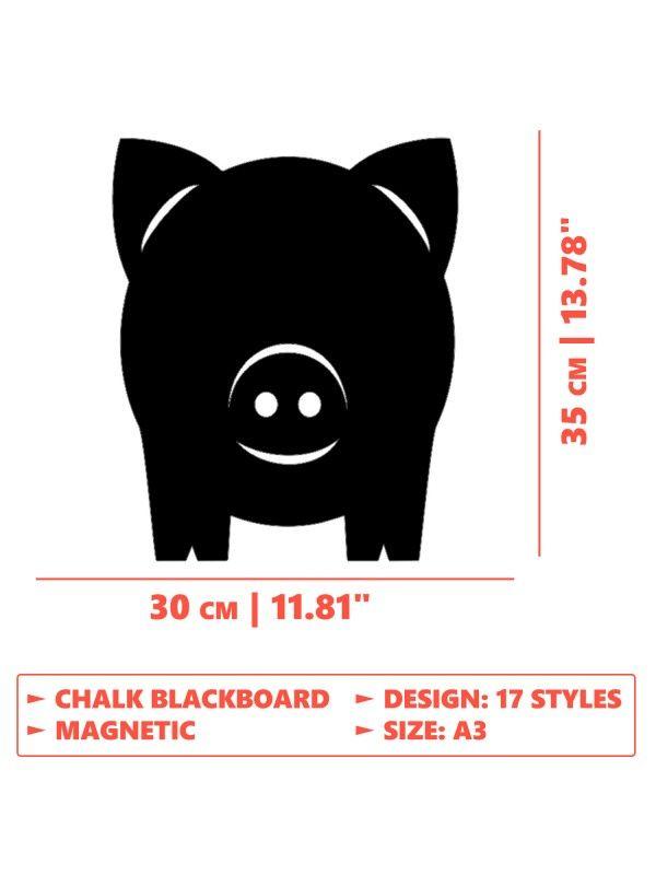Меловая магнитная доска Pig 2 BeCrea - 4