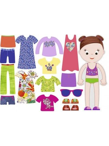 """Little Fashionista`s"" Magnetic Dress-Up Doll - Amelia BeCrea - 1"