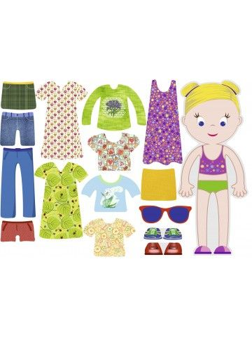 """Магнитная кукла-одевалка """"Маленькие модницы"""" - Olivia BeCrea - 1"""