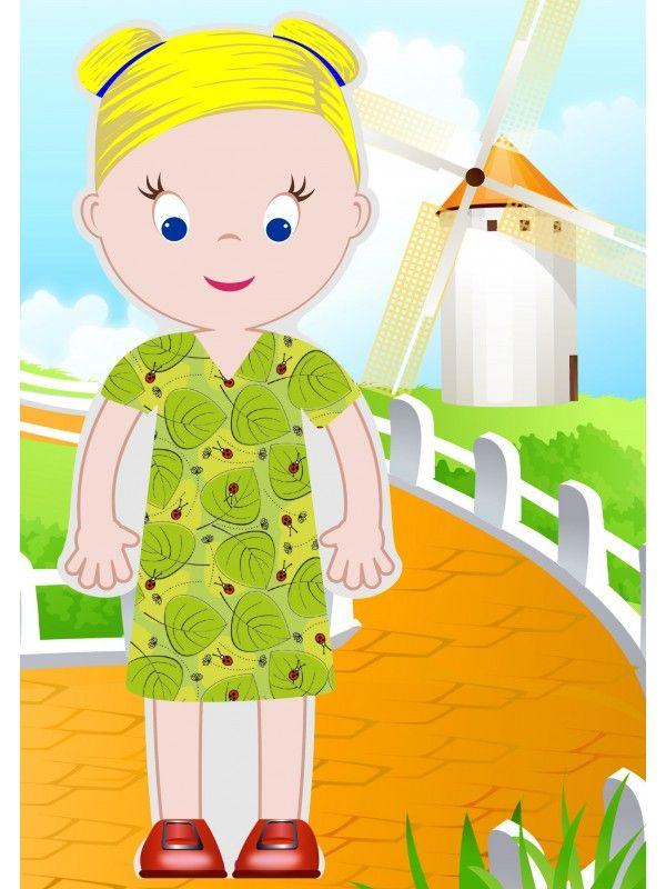 """Магнитная кукла-одевалка """"Маленькие модницы"""" - Olivia BeCrea - 3"""