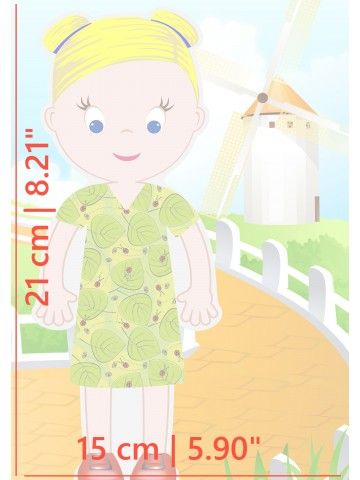 """Little Fashionista`s"" Magnetic Dress-Up Doll - Olivia BeCrea - 4"