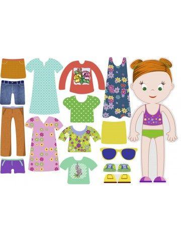 """Магнитная кукла-одевалка """"Маленькие модницы"""" - Mia BeCrea - 1"""