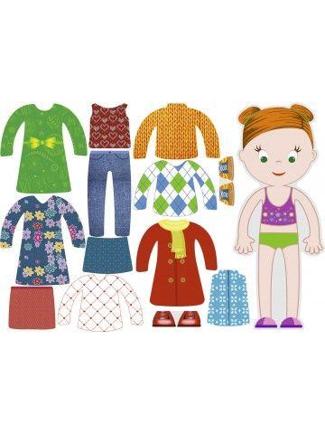 """Магнитная кукла-одевалка """"Маленькие модницы"""" - Emma BeCrea - 1"""