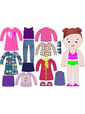"""Little Fashionista`s"" Magnetic Dress-Up Doll - Abigail BeCrea - 1"