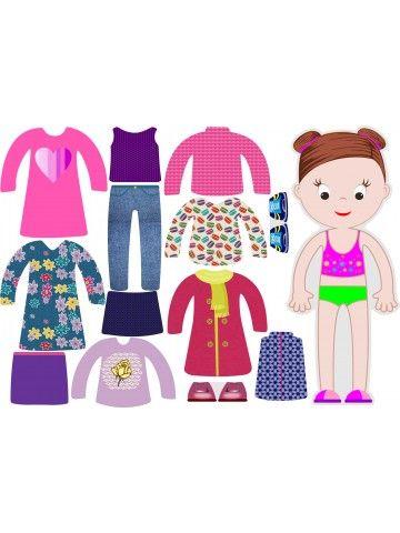 """Магнитная кукла-одевалка """"Маленькие модницы"""" - Abigail BeCrea - 1"""