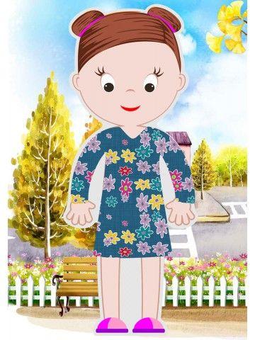 """Magneta lelles komplekts """"Stilīgie mazulīši"""" - Abigail BeCrea - 3"""