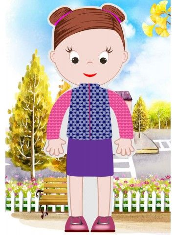 """Little Fashionista`s"" Magnetic Dress-Up Doll - Abigail BeCrea - 4"