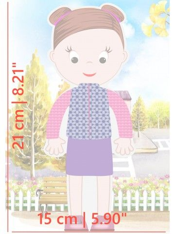 """Little Fashionista`s"" Magnetic Dress-Up Doll - Abigail BeCrea - 5"