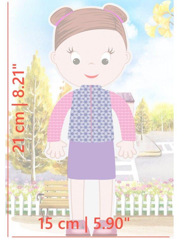 """Magneta lelles komplekts """"Stilīgie mazulīši"""" - Abigail BeCrea - 5"""