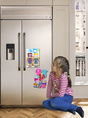 """Magneta lelles komplekts """"Stilīgie mazulīši"""" - Ava & Mia BeCrea - 3"""