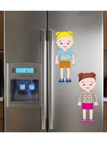 """Magneta lelles komplekts """"Stilīgie mazulīši"""" - Ava & Mia BeCrea - 4"""