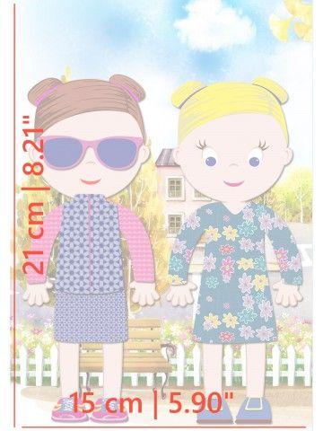 """Магнитная кукла-одевалка """"Маленькие модницы"""" - Ava & Mia BeCrea - 5"""