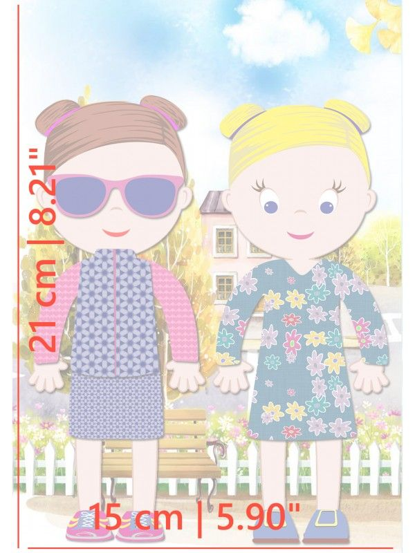 """Little Fashionista`s"" Magnetic Dress-Up Doll - Ava & Mia BeCrea - 5"