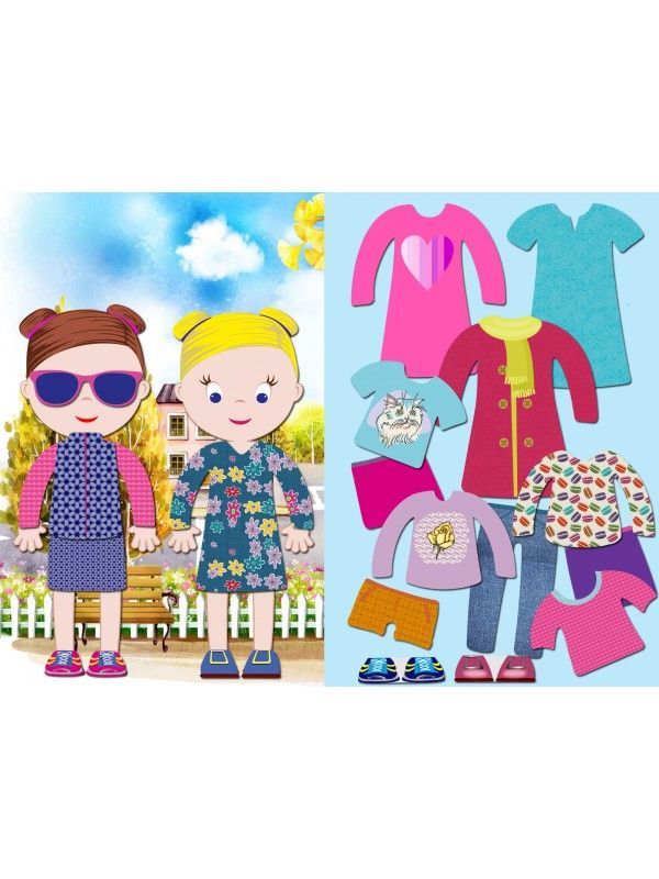"""Магнитная кукла-одевалка """"Маленькие модницы"""" - Ava & Mia BeCrea - 1"""
