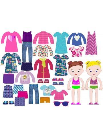 """Магнитная кукла-одевалка """"Маленькие модницы"""" - Ava & Mia BeCrea - 2"""