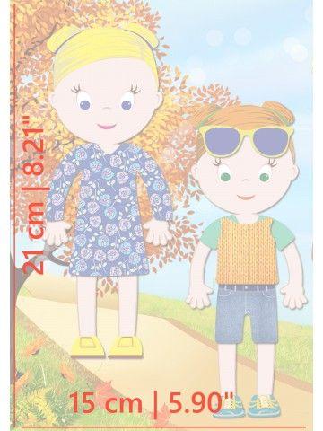 """Little Fashionista`s"" Magnetic Dress-Up Doll - Isabella & Sophia BeCrea - 5"