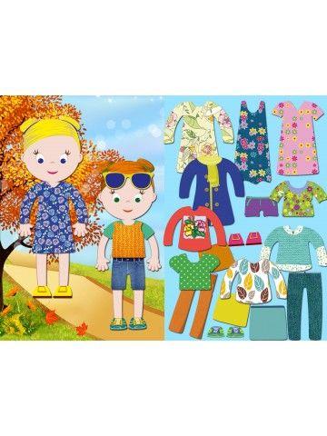 """Magneta lelles komplekts """"Stilīgie mazulīši"""" - Isabella & Sophia BeCrea - 1"""