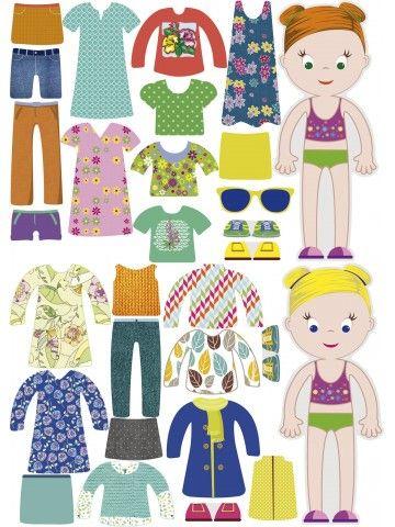 """Little Fashionista`s"" Magnetic Dress-Up Doll - Isabella & Sophia BeCrea - 2"