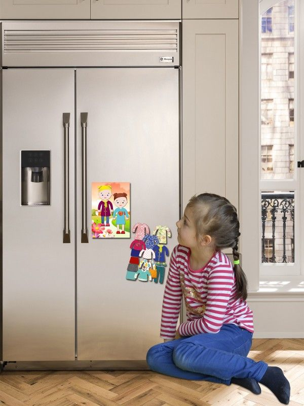 """Magneta lelles komplekts """"Stilīgie mazulīši"""" - Chloe & Amelia BeCrea - 4"""